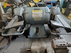 BALDOR 6'' DOUBLE END BENCH TOP TOOL GRINDER, 12'' TABLES