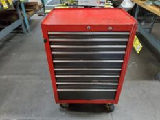 CRAFTSMAN 9-DRAWER ROLLING TOOL CABINET WITH CONTENTS