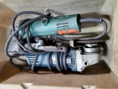 (2) ELECTRIC TOOLS DYNABRADE 11203 1'' SANDER & BOSCH RIGHT ANGLE GRINDER