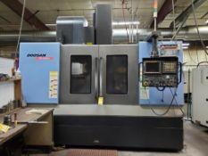 2007 DOOSAN MV 4020LS CNC VERTICAL MACHINING CENTER, 20'' X 48'' TABLE, BT 40 TAPER TOOLING, 30-