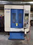 MIYANO MTV-C350 CNC VERTICAL MACHINING CENTER, YASNAC CONTROL, DUAL PALLETS, 15-STATION ATC, CHIP