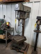 CLAUSING VERTICAL FLOOR DRILL PRESS, MODEL 2223, S/N 108402, 150-2000 RPM, 22'' X 9-1/2'' TABLE,