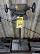 DAYTON 6'' DOUBLE END PEDESTAL GRINDER/BUFFER, 1/2-HP, 3450 RPM, 120V, 1/2'' ARBOR