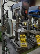 RYOBI DP102L 10'' VERTICAL BENCH TOP DRILL PRESS WITH LASER, 8'' X 9'' TABLE, 5'' THROAT