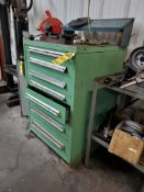 STANLEY VIDMAR 7-DRAWER MODULAR TOOL CABINET AND CONTENTS INCLUDING ABRASIVES