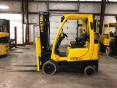 2015 HYSTER 5,000-LB., MODEL S50FT, S/N H187V03779N, LPG, LEVER SHIFT TRANSMISSION, SOLID TIRES,