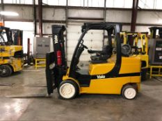 2015 YALE 10,000-LB. CAPACITY, MODEL GDP100VX, S/N G818V011649N, LPG, SOLID TIRES, 2-STAGE MAST,