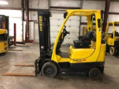 2014 HYSTER 5,000-LB., MODEL S50FT, S/N F187V25856M, LPG, LEVER SHIFT TRANSMISSION, SOLID TIRES,