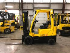 2015 HYSTER 5,000-LB., MODEL S50FT, S/N H187V02353N, LPG, LEVER SHIFT TRANSMISSION, SOLID TIRES,