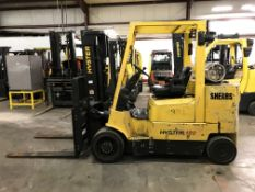 2006 HYSTER 12,000-LB. FORKLIFT, MODEL S120XMS, 9,191 HOURS, 2-STAGE MAST, SOLID CUSHION TIRES, LPG,
