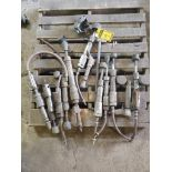 SKID OF ASSORTED PNEUMATIC GRINDERS