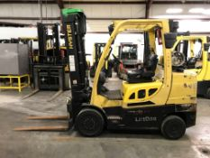 2015 HYSTER 8,000-LB. FORKLIFT, MODEL S80FT, 10,225 HOURS, 2-STAGE MAST, SOLID CUSHION TIRES, LPG,