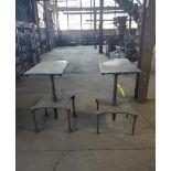 (2) STEEL TABLES
