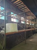 (6X) BAYS TEARDROP PALLET RACKING; (8) UPRIGHTS, AND (38) BEAMS