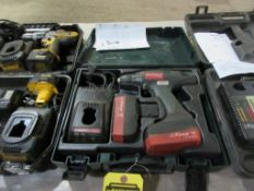 METABO 1/2'' 14 V. DRILL/DRIVER, (2) BATTERIES, CHARGER