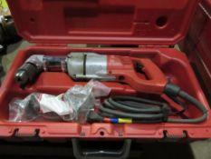 MILWAUKEE 1107-1 RIGHT ANGLE DRILL, 1/2'' CAP., 120 V., 7 AMP