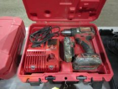 MILWAUKEE 18 V. 1/2'' DRILL/DRIVER SET, (2) BATTERIES & CHARGER