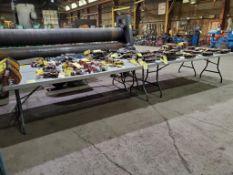 (4) PLASTIC FOLDING TABLES