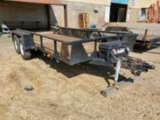 20' BISON TRAILERS DUAL AXLE TRAILER