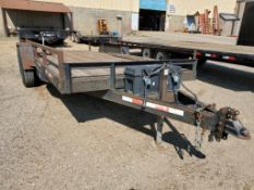 22' TRAILER, DUAL AXLE, TOOL BOX WITH 2 1/2'' STRAPS