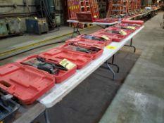 (10) PLASTIC FOLDING TABLES