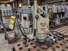 BUX ROCKWELL MAGNETIC DRILL W/ CASE, MODEL 77752, 1'', 15 AMPS, 1 HP, BUX MAGNETIC BASE, MODEL DH3/4