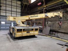 2000 BRODERSON IC-200-3 F CARRY DECK CRANE, 17,000 LB CAPACITY, DECK LOAD, 73', 3- STAGE , 4,593 HOU