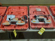(2) MILWAUKEE DEEP CUT BAND SAWS, MODEL 6225-6230, 110 V.
