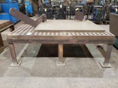 ACORN FIXTURE/ WELDING TABLE, APPROX. 61 X 86 '' X 2 1/2'' THICK