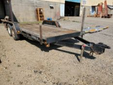 20' FELLING TRAILERS, DUAL AXLE FLATBED TRAILER 7,000 LB CAPACITY
