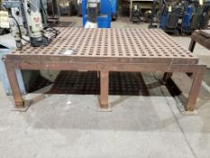 ACORN FIXTURE/ WELDING TABLE, APPROX. 61 X 86 '' X 6'' THICK