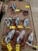 (7) 1'' ASSORTED PNEUMATIC IMPACTS, CLECO, CHICAGO PNEUMATIC, (1) 3/4'' INGERSOL RAND PNEUMATIC IMPA