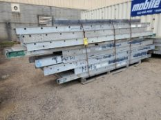 (13) ALUMINUM WALK PLANKS ASSORTED SIZES, UP TO 28'' X 37'