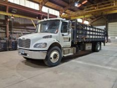 NOVEMBER 2012 FREIGHTLINER BUSINESS CLASS M2 STAKE BED TRUCK, 88,207.9 MILES, VIN 1FVACXDT5CDBL6833