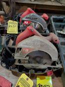 (2) SKILSAWS 7 1/4'' W/ CARBIDE BLADES, 110 V.