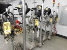 (4) ACCRAPLY LABELERS, MODEL 8485SE TAMP, 120 V.