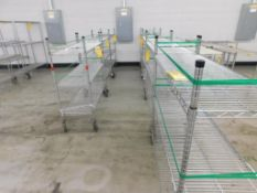 (12) ASSORTED SIZE METRO CARTS & TABLES