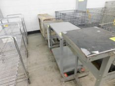 (4) ASSORTED CARTS & TABLE