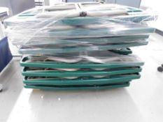(9) FOLDING PICNIC TABLES, 58'' X 30''