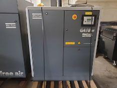 (2) ATLAS COPCO ZT22 32-HP ROTARY SCREW AIR COMPRESSORS, ELECTRINIKON *** ACTUALLY LOTS #107 & 108,
