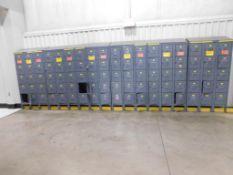 (8) 15-DOOR LOCKERS, (1) 18-DOOR LOCKER