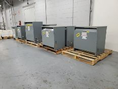 SQUARE D & GE 3-PHASE INSULATED & GENERAL PURPOSE TRANSFORMERS UP TO 75 KVA  *** ACTUALLY LOTS #
