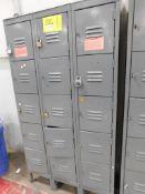(8) 15-DOOR LOCKERS, (4) 10-DOOR LOCKERS