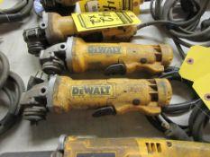 (2) DEWALT 4 1/2'' ANGLE GRINDERS, 120 V.