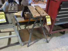PORTABLE SAW TABLE & ASSORTED SAW BLADES