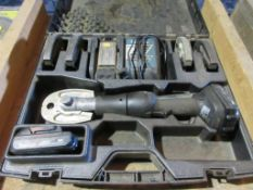 NIBCO PC-200M MINI PRESS TOOL, 1/2'', 3/4'', 1'' JAWS, (2) BATTERIES, CHARGER, CASE, 18 V.