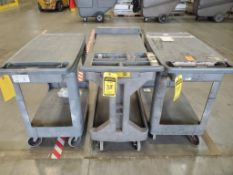 (3) RUBBERMAID ROLLING CARTS ***LOCATED AT 12850 DARICE PARKWAY, STRONGSVILLE, OH***