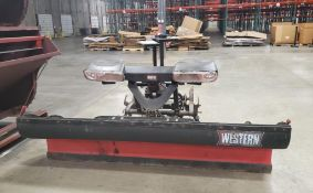 WESTERN ULTRA-MOUNT SYSTEM PLOW; 7' 6'' POLY PRO, S/N 09082410477962400, WITH LIGHT KIT ***LOCATED