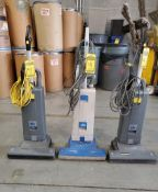 (3) WINDSOR SENSOR XP 18 VACUUM CLEANERS ***LOCATED AT 12850 DARICE PARKWAY, STRONGSVILLE, OH***