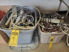 (2) TOTES OF POWER STRIPS ***LOCATED AT 12850 DARICE PARKWAY, STRONGSVILLE, OH***
